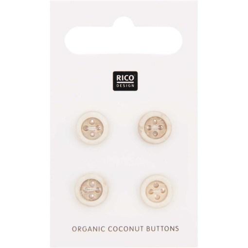 Rico Design Organic Coconut Buttons 10mm