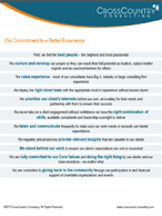 Our Commitment to a Better Experience: Our promise to our clients and to our people