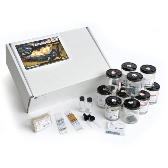 A Burning Question Fire Debris Analysis Kit