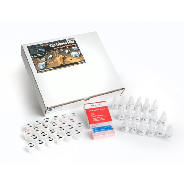 The Jagged Edge Glass Fragment Identification Kit