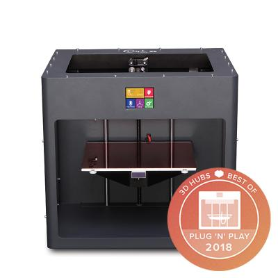 CraftBot PLUS 3D printer with WiFi in Anthracite gray color.