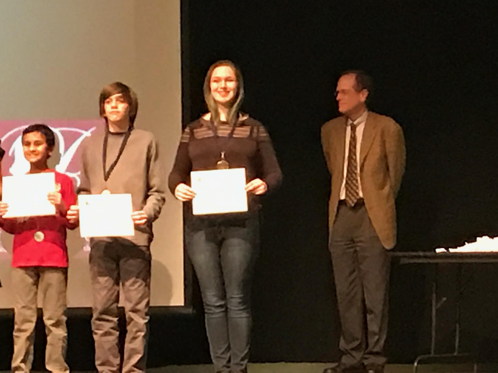 Senior Cassie Block wins Outstanding Interpretation in the Film category for the county-wide Reflections Contest.