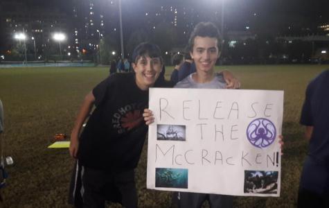 Frisbee team celebrates senior night