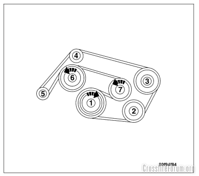 serpentine belt diagram ~ decal ~ for the engine