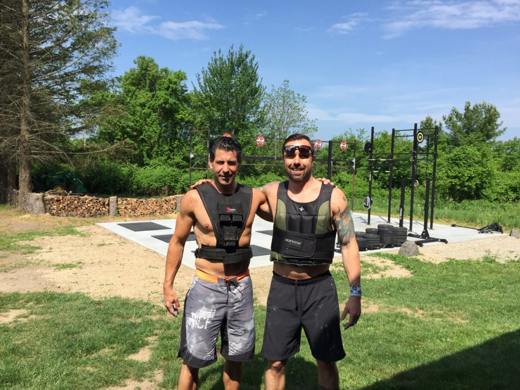 "Mr. Worldwide and Adam ""Slick Back"" Stevens got after Murph today at the Worldwide Compound."