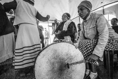The rhythm of the drums plays a vital role in their ritual dances.