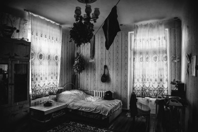 Bedroom of Slava, a former seaman, in Tiraspol, the capital of non-recognized state of Transnistria (officially part of Moldova).