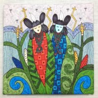 Corn Maidens by Gerald Dawavendewa, with symbolic Butterfly swirl hair supporting positive growth