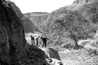 C.C.C. trail construction above Phantom Ranch, 1935