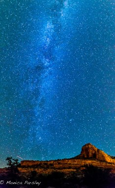Milky Way Galaxy viewed from Sedona -- opens us to awe. Photo by Monica Parsley