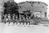 Hopi Dancers at the Desert Watchtower, historic image.
