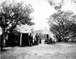 Navajo employee housing next to Hopi House, 1906.