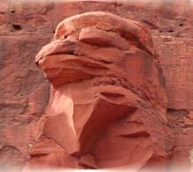 Eagle Head Rock sacred site, Sedona. Part of Sedona Explorer and Sedona Sacred Vortex Tour. Photo by Sandra Cosentino