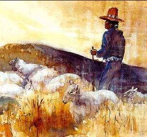 Navajo sheepherder painting