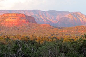 Sedona red cliffs near Boynton Canyon by Sandra Cosentino