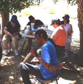 Rattle making with Hopi artists by Sandra Cosentino