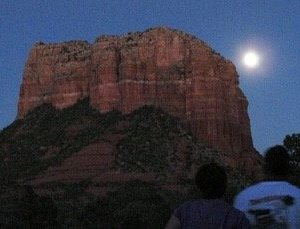 sunset, starlight, solo vision circle program, Crossing Worlds Journeys & Retreats, Sedona