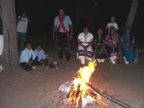 Navajo, campfire circle, Spirit Journey, ceremony, jeep tour