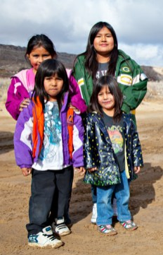 Hopi sisters and cousins enjoying the day (photos above and left by Jackie Kleiger)