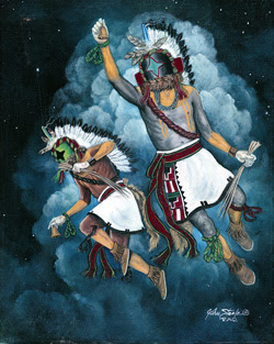 """Painting is """"Starchaser Kachina"""" by John Steele"""