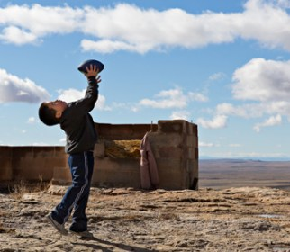 The kids always are such a joy! photo by Jackie Klieger Hopi Boy with new ball.