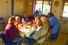 Sharing a meal with elders at 1st Mesa. Photo by Tom White