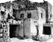 Historic Hopi pueblo style home dating back several centuries ago