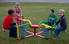 4-seat bouncer that we purchased for 4 Hopi playgrounds (photo not taken at Hopi)