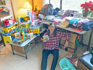 packing gifts for Hopi foster care youth