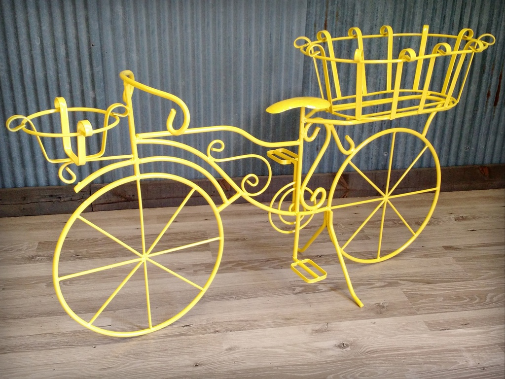Bicycle Planter - Super Mirror Yellow