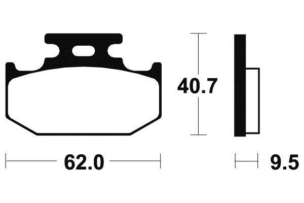 Plaquettes de frein arrière BENDIX YAMAHA 400 WR-F 1998