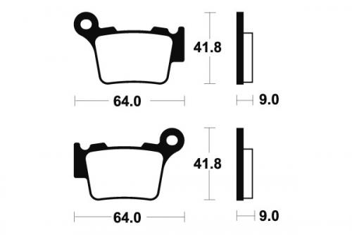 Plaquettes de frein arrière BREMBO SD/SX KTM 250 EXC-F
