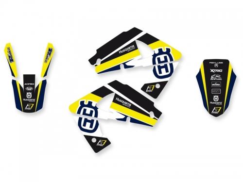 kit deco dream graphic 3 jaune husqvarna 250 WR 2000-2005