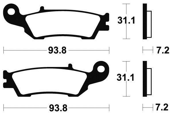 Plaquettes de frein AVANT TECNIUM YAMAHA 450 YZ-F 2008