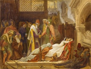 The Reconciliation of the Montagues and the Capulets by Frederic Leighton [Public domain], via Wikimedia Commons
