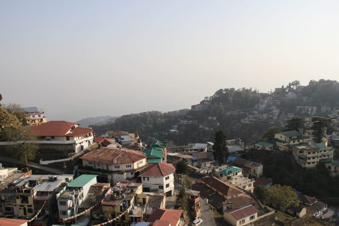 First sight of full landscape of Mussoorie