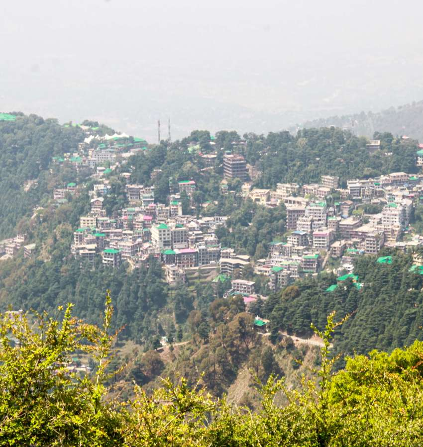 MacLeod Ganj view from the top