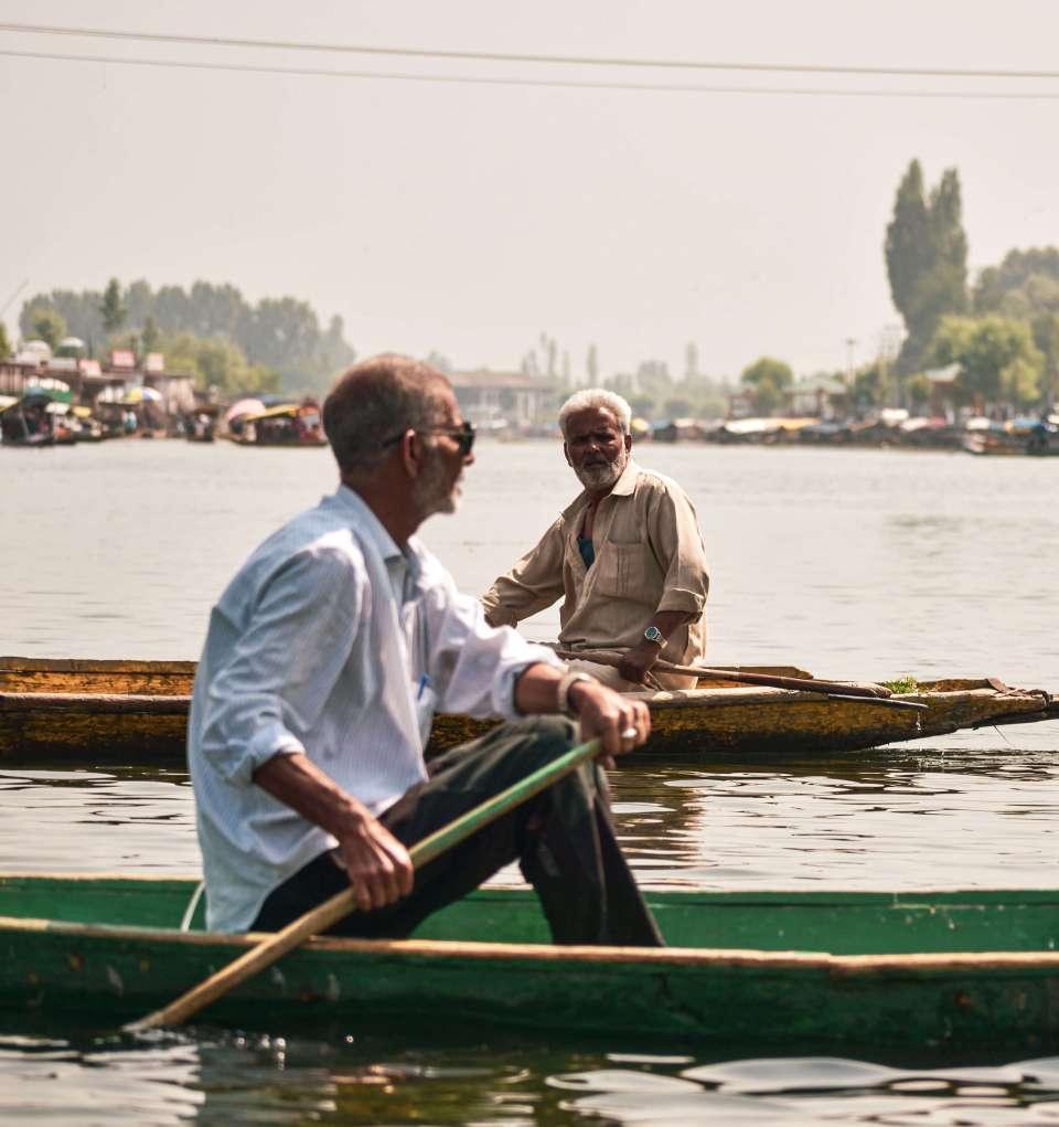 people boating in Srinagar