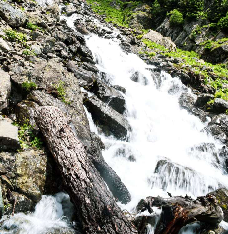 Small Waterfall during trekking in kashmir