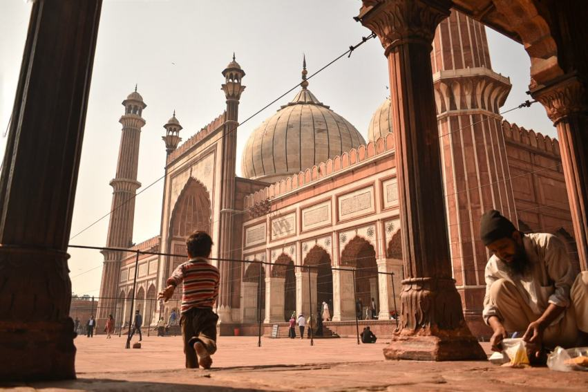 Jama Masjid is surrounded by the lanes of Old Delhi