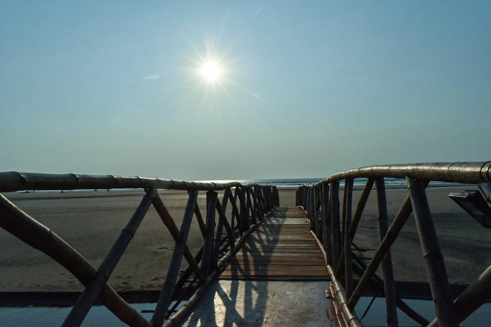 Bridge at the Mandrem Beach in Goa