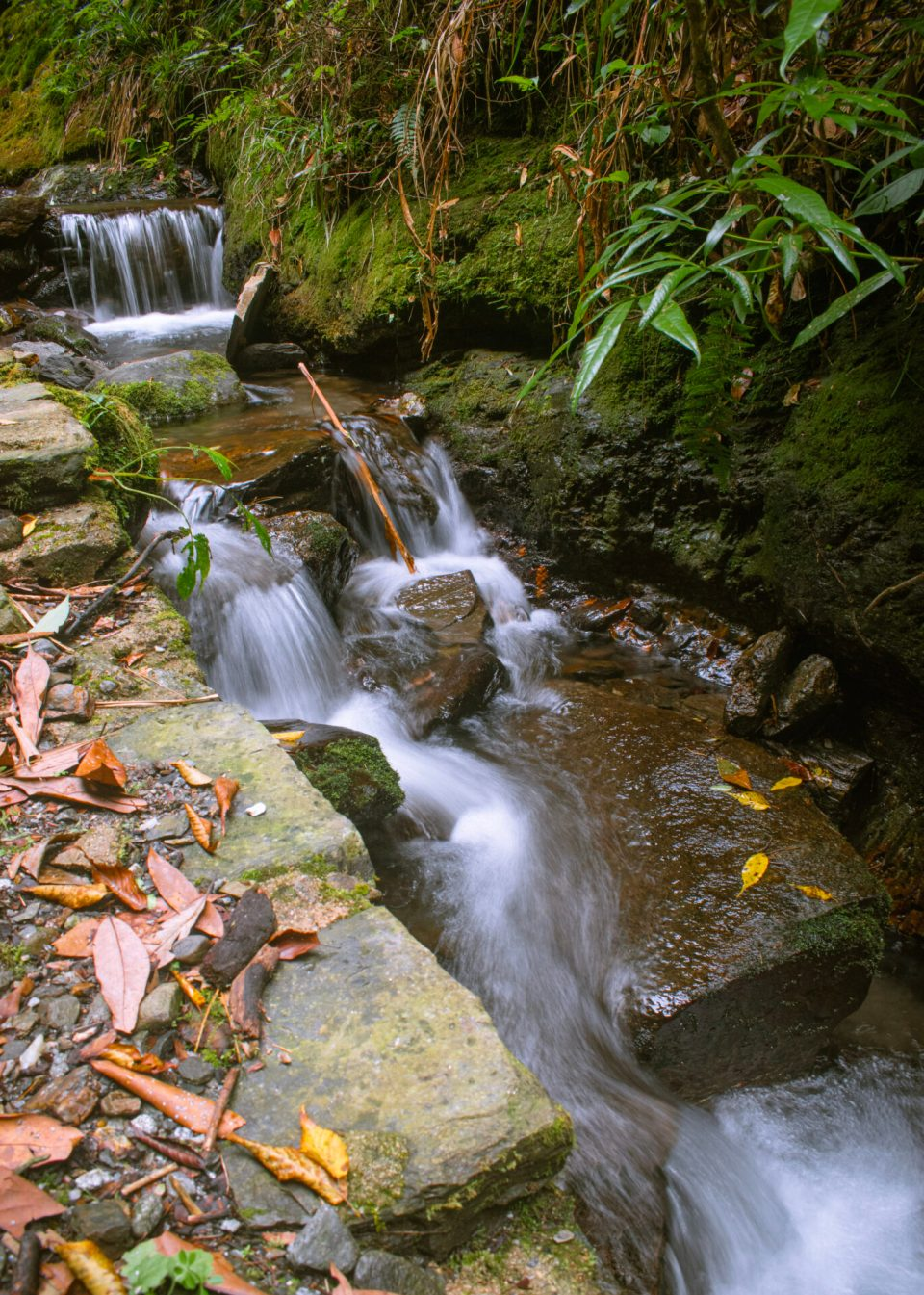 The silky & smooth water stream in Jibhi made with the long exposure photography