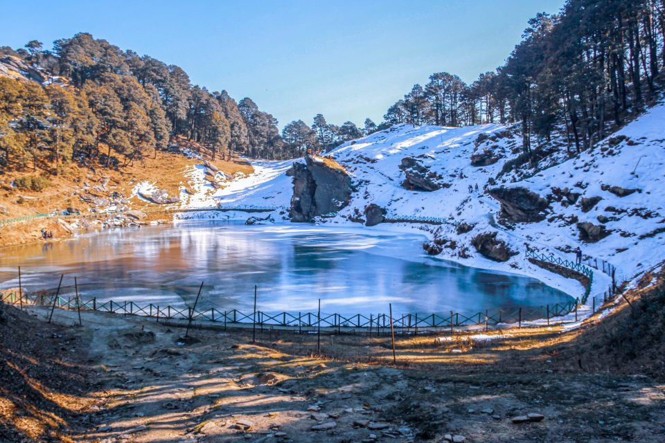 Frozen Serolsar Lake in Winters