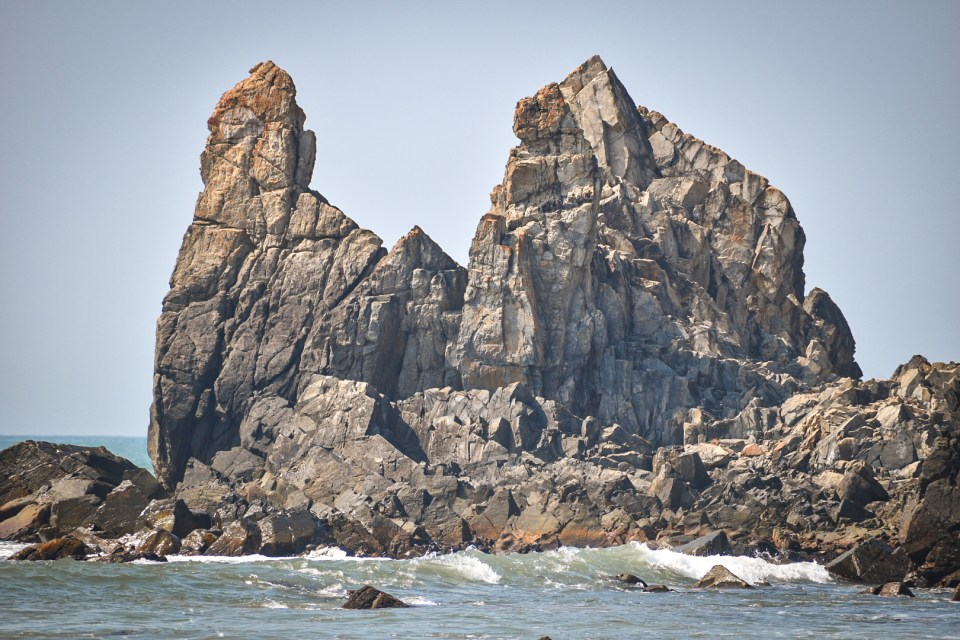 Giant Rocks in the Sea
