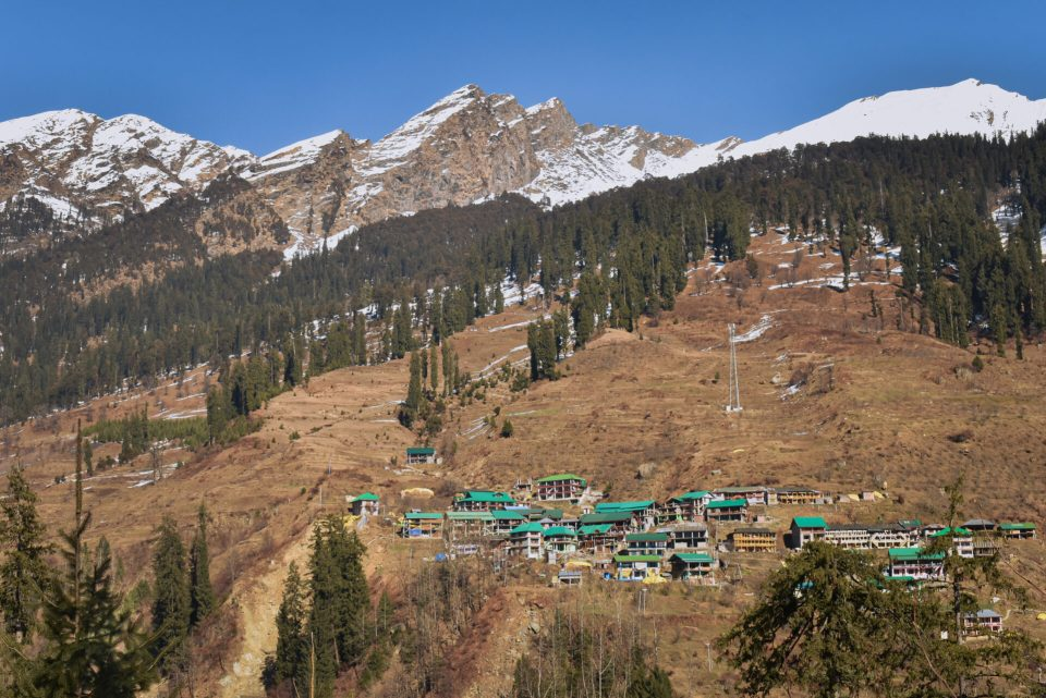 The Houses were seen on the way from Manali to Solang Valley