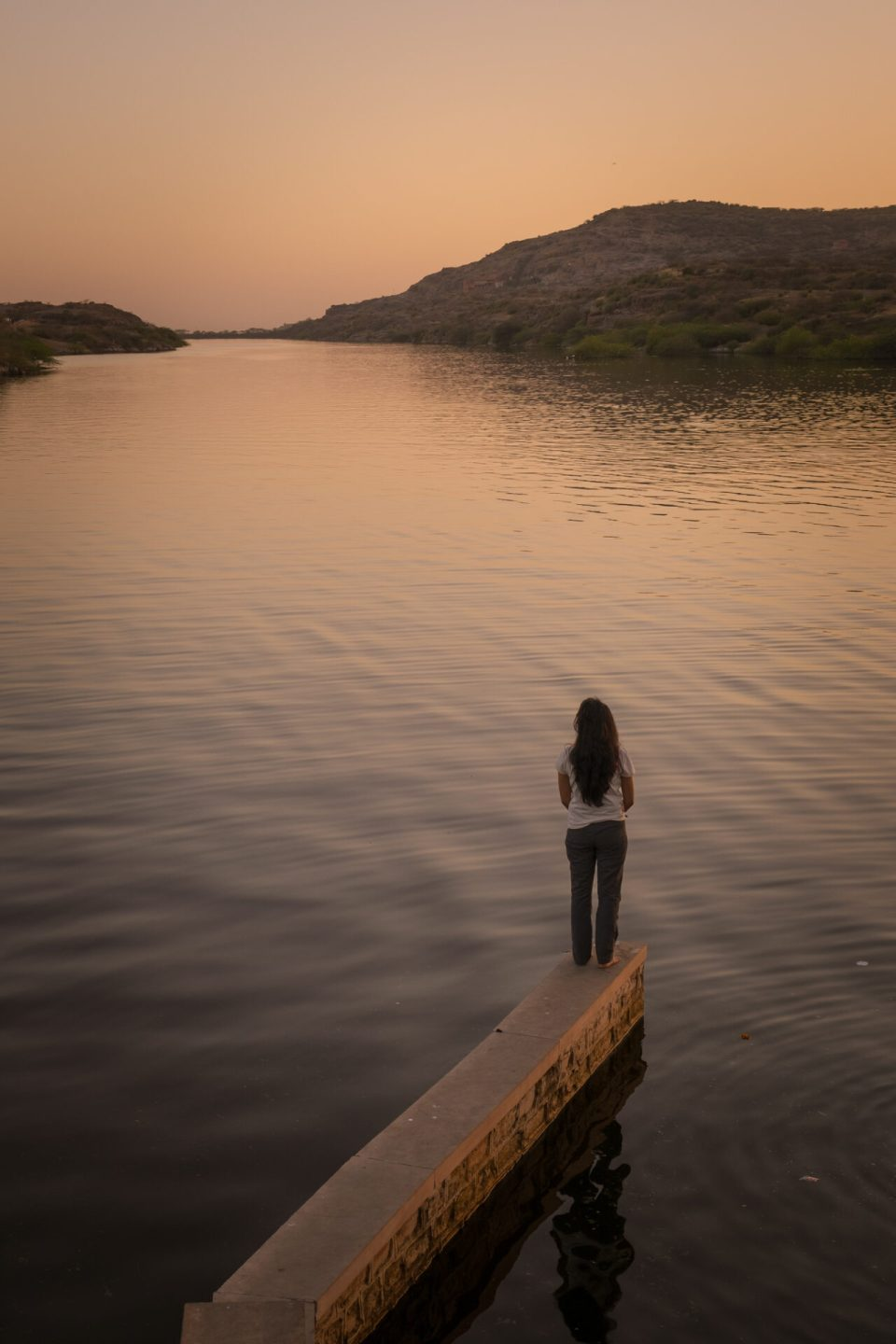 Sunset at the Kaylana Lake in Jodhpur