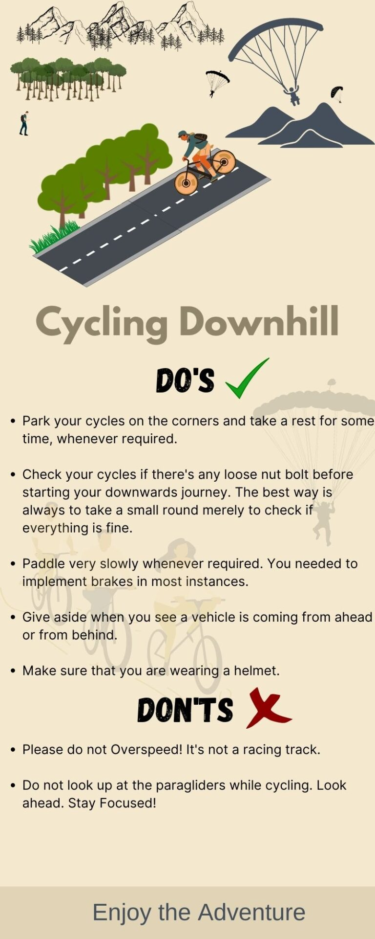 Do's and Don'ts While Cycling Down from Asia's Highest Paragliding Spot