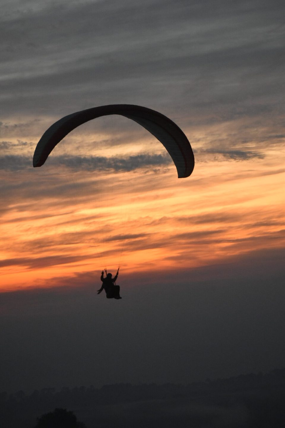 Paragliding before the Dusk