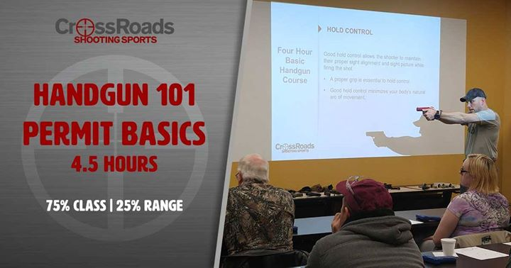 CrossRoads Shooting Sports, Handgun 101, Firearms Training
