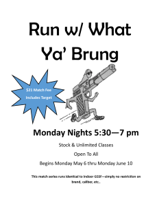Run w/ What Ya' Brung match series @ CrossRoads Shooting  | Johnston | Iowa | United States